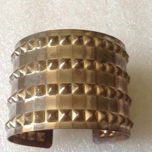 Vintage brass wide cuff